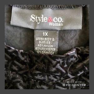 Style & Co Tops - Style & Co. velvet burnout top